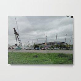 Etihad Stadium and the Last of the B of the Bang Metal Print