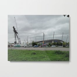 Etihad Stadium and the Last of the B of the Bang Metal Print