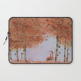 Autumn Birch Fox Laptop Sleeve