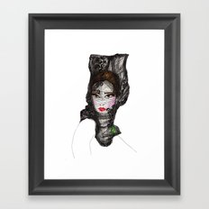 Lady with a Lace Veil Framed Art Print