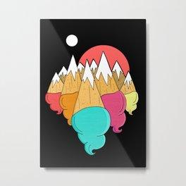 Ice-cream mounts Metal Print