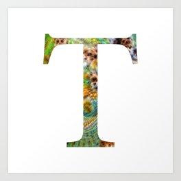 "Initial letter ""T"" Art Print"