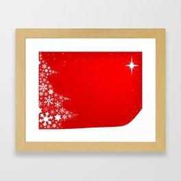 Red Christmas Framed Art Print