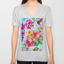 A Floral Felicity Unisex V-Neck