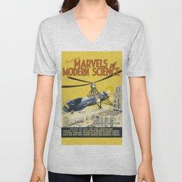 Marvels of Modern Science Unisex V-Neck