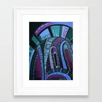 neon Framed Art Prints featuring NEON by Deyana Deco