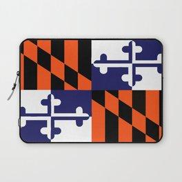 Maryland State Flag Football Purple Baseball Orange Laptop Sleeve