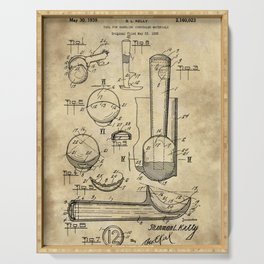 Ice Cream Scoop Blueprint Industrial Farmhouse Serving Tray