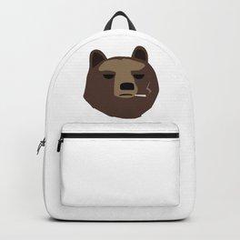 Smoking gopnik Kamchatka brown bear Камчатский бурый медведь (Far Eastern brown bear) Backpack