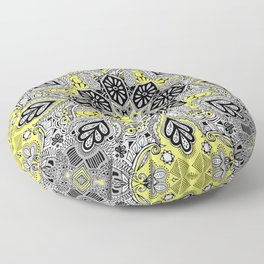 Boho Sunshine Medallion Pattern Floor Pillow