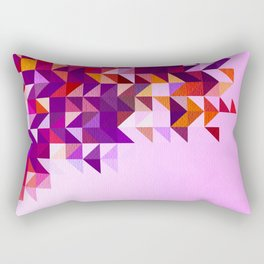 Colourful and Vibrant Geometric Nature on Ombre Pink Rectangular Pillow