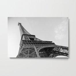 B&W Eiffel Tower Metal Print
