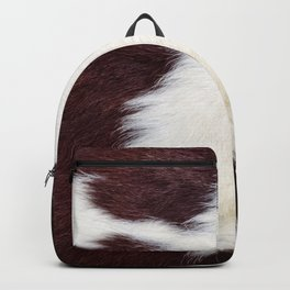Cowhide Fur Backpack