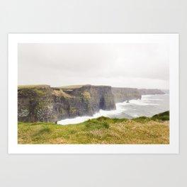 Storming Cliff Art Print