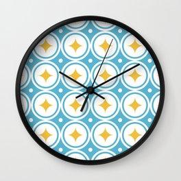 Romb topaz Wall Clock