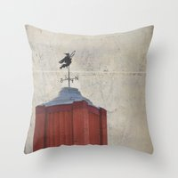 witch Throw Pillows featuring Witch by Elina Cate