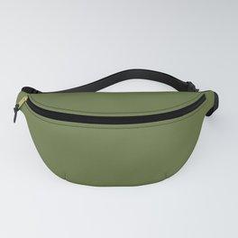 Dark Olive Green Solid Color Block Fanny Pack