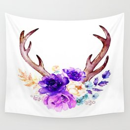 Floral Antler Wall Tapestry