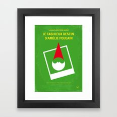 No311 My Amelie minimal movie poster Framed Art Print
