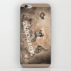 Adventure is out there. Stars world map. Sepia iPhone & iPod Skin