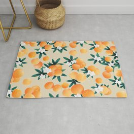 Orange Twist Flower Vibes #9 #tropical #fruit #decor #art #society6 Rug