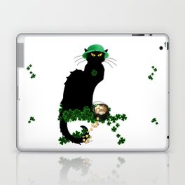 Le Chat Noir - St Patrick's Day Laptop & iPad Skin