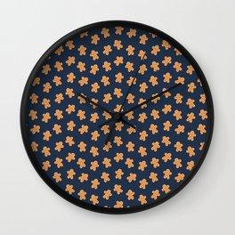 Tasty Gingerbread Man Pattern Wall Clock