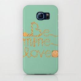 Valentine's Day Orange Peel Heart iPhone Case