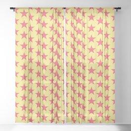 Stars Pattern 27 Sheer Curtain