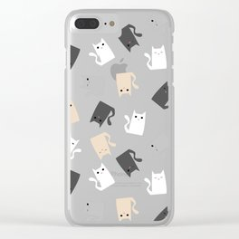 Scattercats Clear iPhone Case