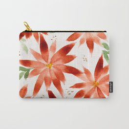 Christmas Flowers Carry-All Pouch