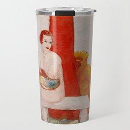 "Florine Stettheimer ""Self-Portrait with Palette"" Travel Mug"