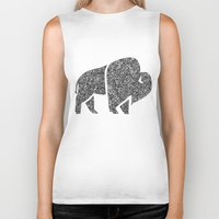 buffalo Biker Tanks featuring Buffalo by Aleishajune
