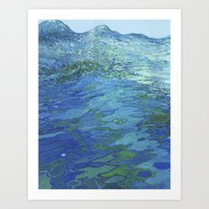Effervescent Waves 1 Art Print