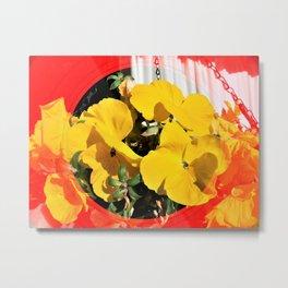 Yellow Pansies Metal Print