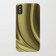 Abstract Fractal Colorways 02 Simple Gold iPhone X Slim Case