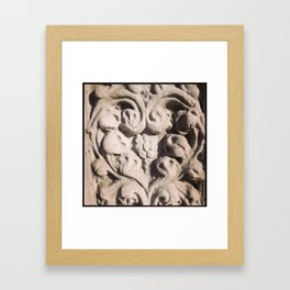 Dana Point Carved Stone Heart Framed Art Print