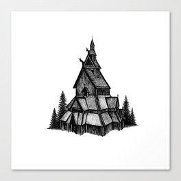 Borgund Stave Church Canvas Print