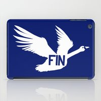 finland iPad Cases featuring National Bird of Finland by Infinite Sparrow