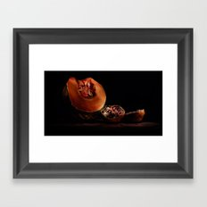 Food (pumpkin and pomegranate) Framed Art Print