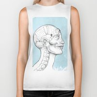 grid Biker Tanks featuring Grid by isberg illustration