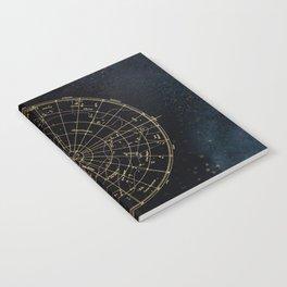 Golden Star Map Notebook