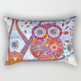 If Klimt Painted An Owl :) Owls are darling birds! Rectangular Pillow
