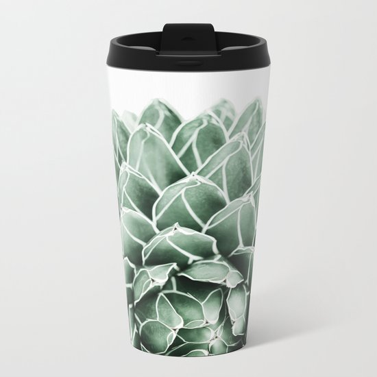 Succulent splendour Metal Travel Mug