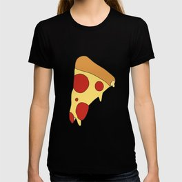 Flat Leaky Pepperoni Pizza T-shirt