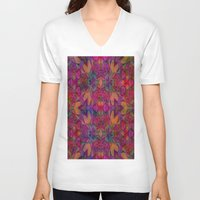escher V-neck T-shirts featuring Escher Tile II by RingWaveArt