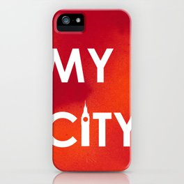 MyCity-London-RedOrangeA iPhone Case