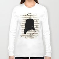 mozart Long Sleeve T-shirts featuring Mozart - Dies Irae by viva la revolucion