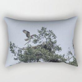Osprey Reinforcing Its Nest 2017 Rectangular Pillow