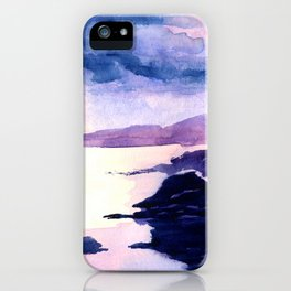 Watercolour Landscape Scotland Loch Lomond iPhone Case
